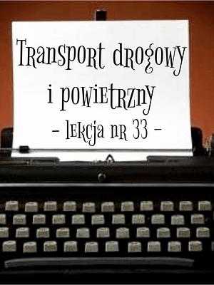 33 Lekcja transport drogowy i powietrzny po rosyjsku