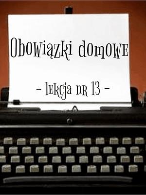 13 Lekcja obowiązki domowe po rosyjsku